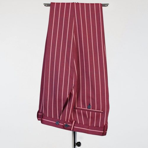 Fashuné Hazleton Burgundy Striped Suit