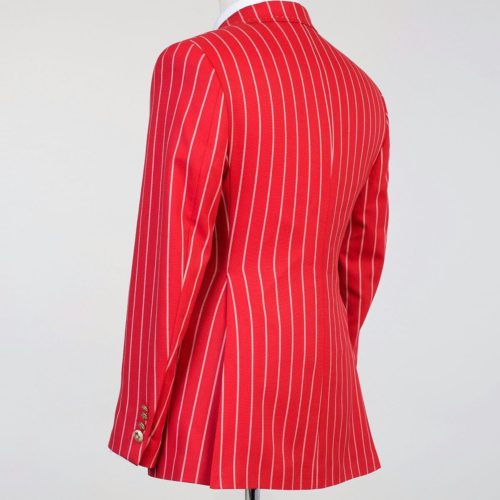 Fashuné Hazleton Red Striped Double Breasted Suit